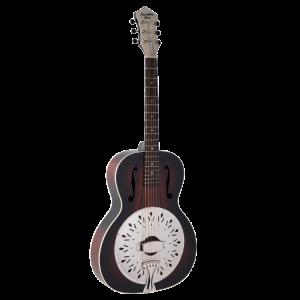 Recording King Rattlesnake Wood Body Resonator Guitar
